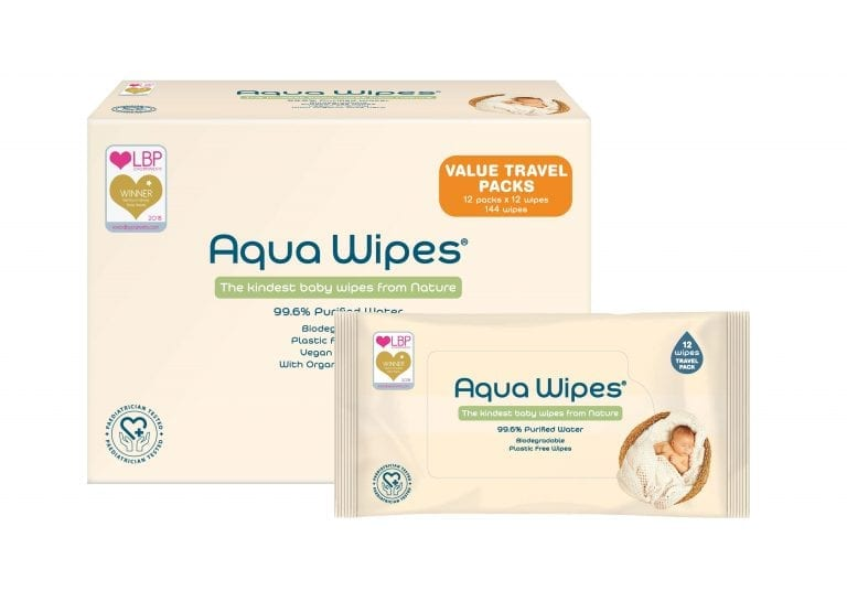 Aqua Wipe Carton Travel Box