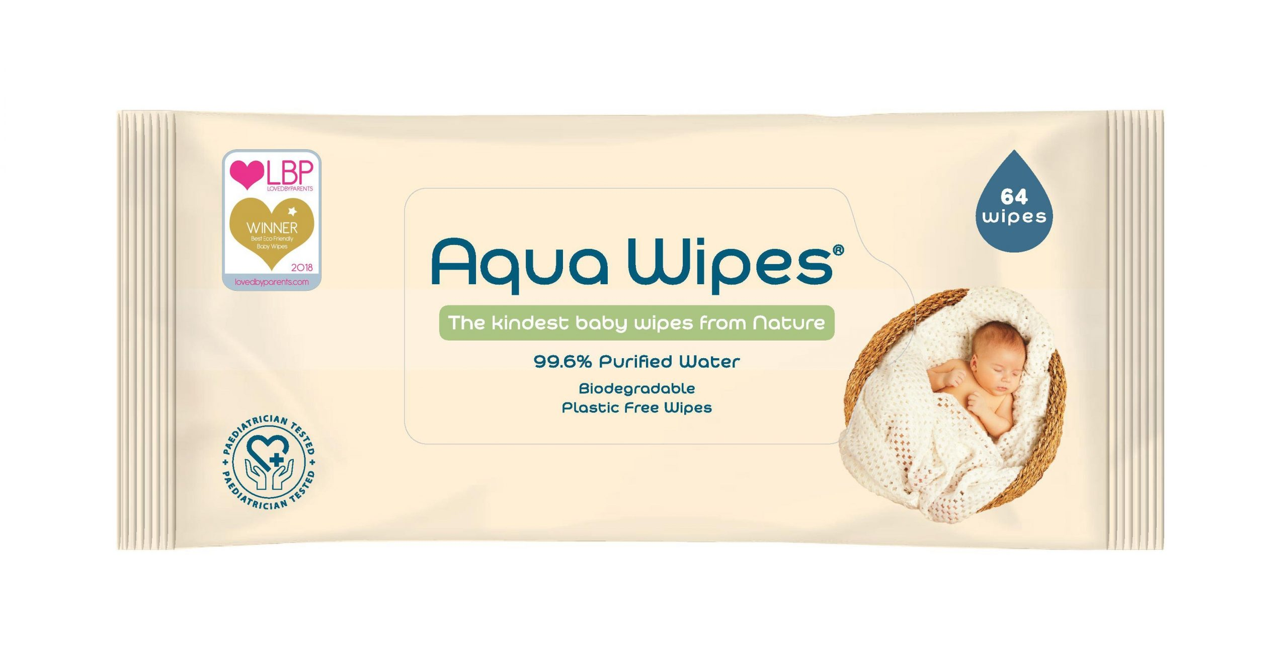 Aqua Wipes 64 wipes pack